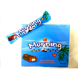 Bc Morning X2 Crispy Rice Chocolate Coated Coconut Bar - 56gm (Pack Of 24)