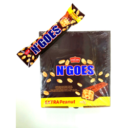 Bc N'Goes Extra Peanut Cocoa Coated Cream Filled Bar With Peanut - 65gm (Pack Of 24)