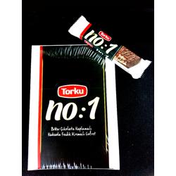 Torku No:1 Dark Dark Chocolate Coated Wafer - 5gm (Pack Of 24)