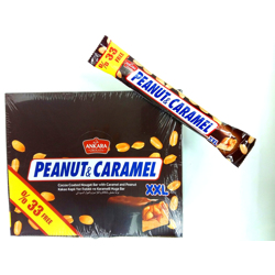 Ankara Peanut & Caramel XXL Cocoa Coated Nougat Bar - 70gm (Pack Of 24)