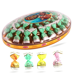 Antat Twila Cream & Rice Crispy Filled Fantasy Chocolate In Oval Crystal - 500gm