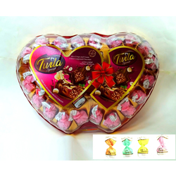 Twila Special Rice Crispy Cream Filled Chocolate In Double Heart Crystal - 500gm
