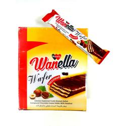 Wanella Wafer Hazelnut Chocolate Coated Wafer With Hazelnut - 35gm (Pack Of 24)