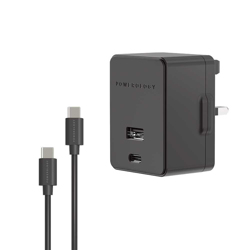 Powerology Ultra-Quick 18W PD Wall Charger - Black