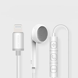 Powerology Mono Single Earphone with MFi Lightning Connector - White