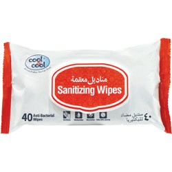 Cool & Cool Sanitizing Wipes-40 Sheets