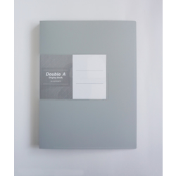 Double A PP Display Book - 1Box/12pcs (60 Pockets) Grey
