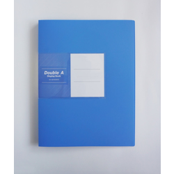 Double A PP Display Book - 1Box/12pcs (60 Pockets) Light Blue