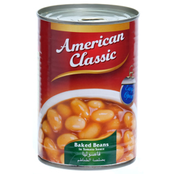 American Classic Baked Beans In Tom Sauce Easy Open-400gm