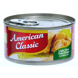 American Classic Tuna Lm Flakes (Oil)-185gm
