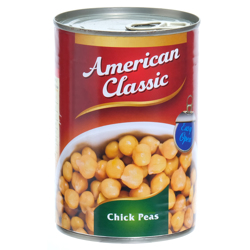 American Classic Chick Peas In Brine E/Open-400gm