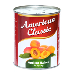 American Classic Apricot Halves In Can-825gm