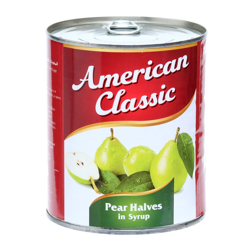 American Classic Pear Halves In Can-825gm