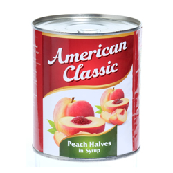 American Classic Peach Halves In Can-825gm