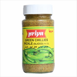 Priya Green Chilli(Sliced) Pickle In Oil-300gm