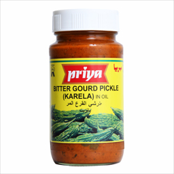 Priya Bittergourd (Karela) Pickle In Oil-300gm
