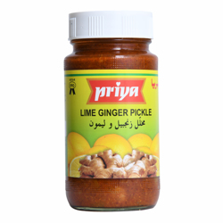 Priya Lime Ginger Pickle In Lime Juice-300gm