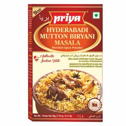 Priya Hyderabadi Mut. Biryani Masala-50gm