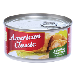 American Classic Tuna Lm Chunks In Sunflower Oil-185gm