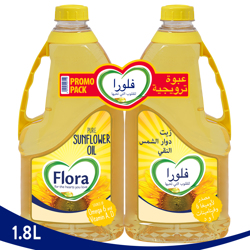 Flora Sun Flower Oil-1.8L + 1.8L Pack Of 2