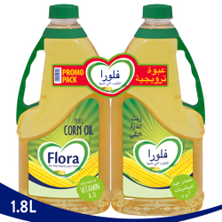 Flora Corn Oil-1.8L + 1.8L Pack Of 2