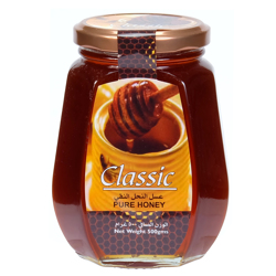 Classic Pure Honey Glass Bottle-500gm