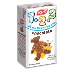 KDD Kids 123 Chocolate Milk-125ML-Pack of 6
