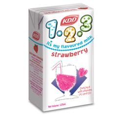 KDD Kids 123 Strawberry Milk-125ML-Pack of 6