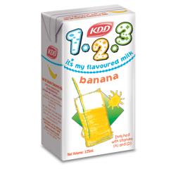 KDD Kids 123 Banana Milk-125ML-Pack of 6