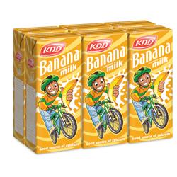 KDD Banana Milk-180ml-Pack of 6