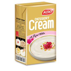 KDD Dessert Cream W/Rose Water-125ml-Pack of 4