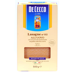 De Cecco Pasta Lasagna White #112 -500gm