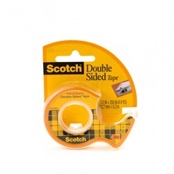 Scotch Double Sided Tape-12mmx6.35mm (Pkt/12pc)
