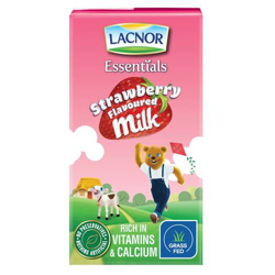 Lacnor Flavoured Milk Laces Long Life Strawberry-125ml