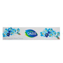Oasis Tissues 100 X2 Ply 6X6-100s