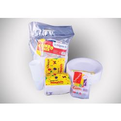 Hotpack Combo Pack Set-Foam Plate,25Pcs+Napkin+Spoon 50Pcs+Cup 25Pcs