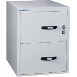 Chubbsafes Profile Nt Fire Resistant Document Protection Cabinet Model Nt 120 31In - 2 Dr With 2 Drawers-139L