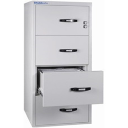 Chubbsafes Profile NT Fire Resistant Document Protection Cabinet Model NT 120 31In - 4 Dr With 4 Drawers-139L preview