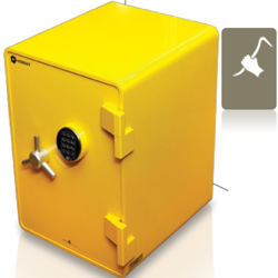 Shinjin Burglar Resistant Steel Safe With Fire Resistance Model SJST-800(Yellow). Secured By Electronic Lock