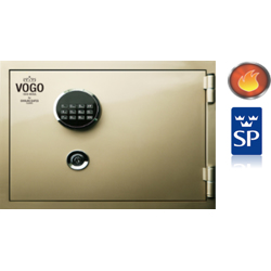 Shinjin Vogo Safes Fire Resistant Safe, Model VGF-360 White Crystal With Electronic Lock, H 360 X W 445 X D-19L