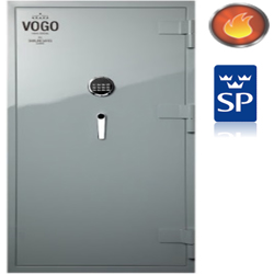 Shinjin Vogo Safes Fire Resistant Safe, Model VGF-935 Signal Red With Electronic Lock-127L preview