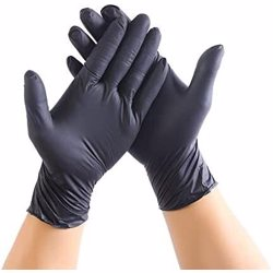 Hotpack Disposable Vinyl Gloves Small Black 100 Pcs/Box Powder Free preview