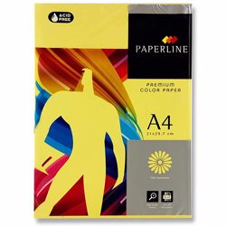 Paperline A4 80 GSM Colour Paper - Yellow (5 Reams/Box)