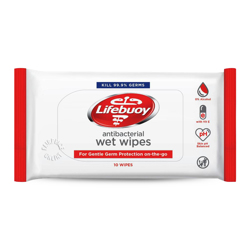 Lifebuoy Antibacterial Wet Wipes-10s
