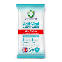 Green Shield Anti-Viral Wipes-15s