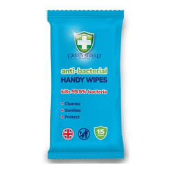 Green Shield Anti-Bacterial Wipes-15s
