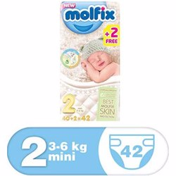 Molfix Comfortable Mini Baby Diapers 3-6 Kg 42 Count Size 2