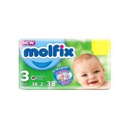 Molfix Comfortable Midi Baby Diapers 4-9 Kg 38 Count Size 3