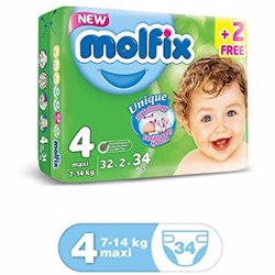 Molfix Comfortable Maxi Baby Diapers 7-14 Kg 34 Count Size 4