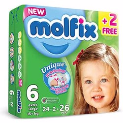 Molfix Comfortable X-Large Baby Diapers 15 Kg 26 Count N6